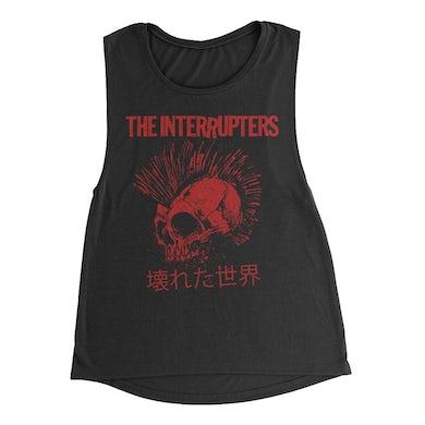 The Interrupters Broken World Women's Muscle Tank (Black)
