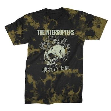 The Interrupters Broken World T-Shirt (Bleach Dyed)