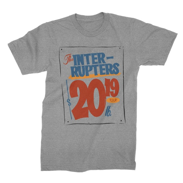 The Interrupters Grocery Sign 2019 Tour T-Shirt (Heather Gray)