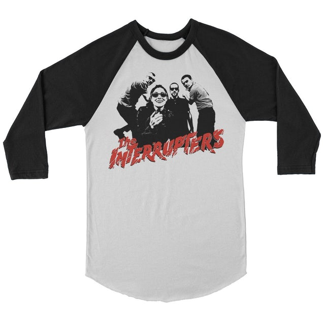 The Interrupters Clash Raglan (White/Black)