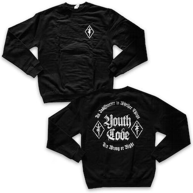 Youth Code Wrong Or Right Crew Neck (Black)