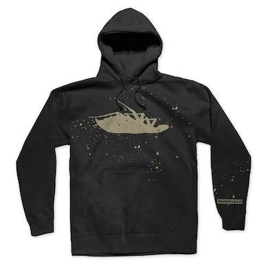Papa Roach Bleached Logo Pullover Hoodie (Black)