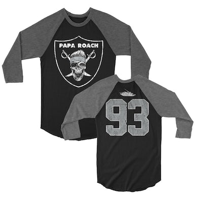 Papa Roach Roach Nation Raglan (Black/Gray)