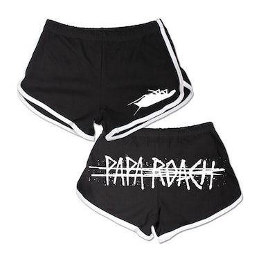 Papa Roach Logo Women's Track Shorts (Black)