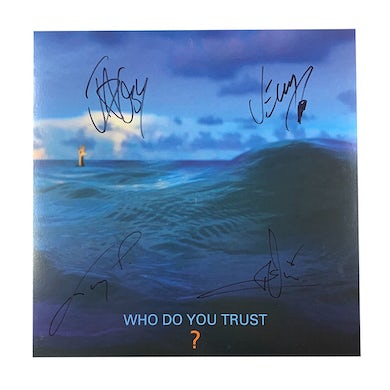 Papa Roach Who Do You Trust? Signed LP (Orange) (Vinyl)