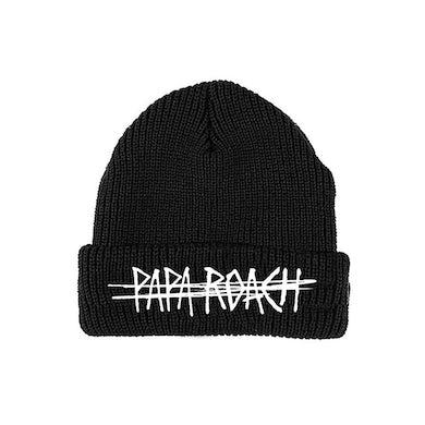 Papa Roach Scratch Logo Embroidered Beanie (Black)