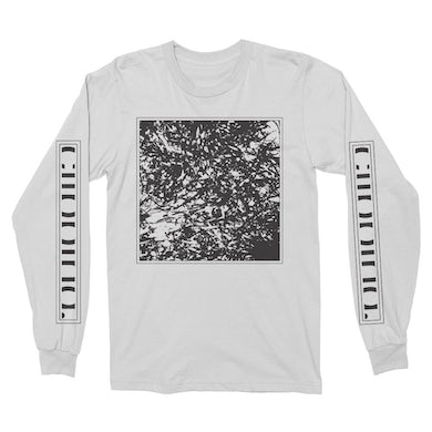 Clipping Tape Long Sleeve T-Shirt (White)
