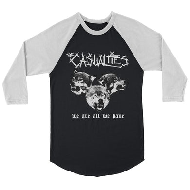 The Casualties We Are All We Have Raglan (Black/White)