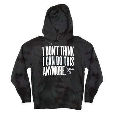 Moose Blood I Don't Think Pullover Hoodie (Acid Wash Gray)
