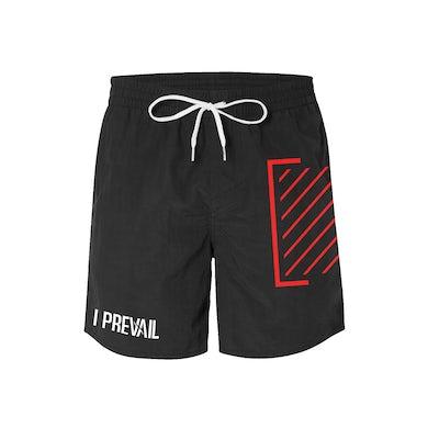 I Prevail Trauma Logo Board Shorts (Black)