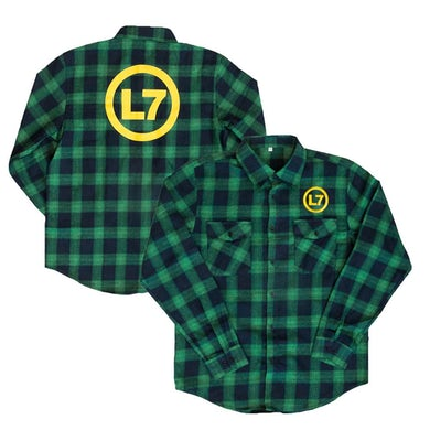 L7 Logo Flannel Logo Flannel (Green)