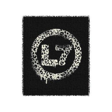 L7 Leopard Spray Logo Throw Blanket (Black)