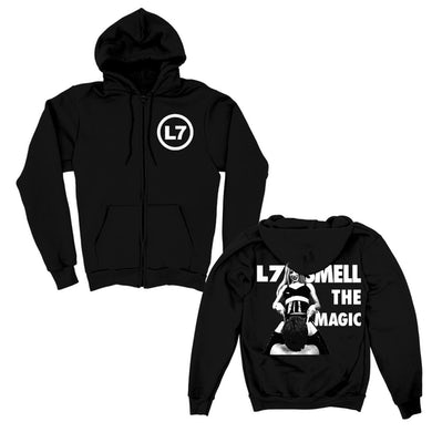 Smell the Magic Zip Up Hoodie (Black)