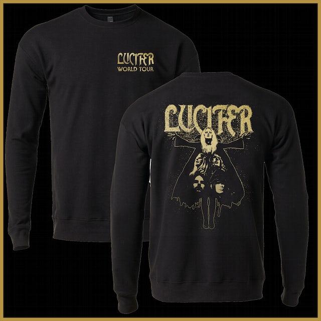 LUCIFER World Tour Silhouette Crew Neck Sweatshirt (Black)