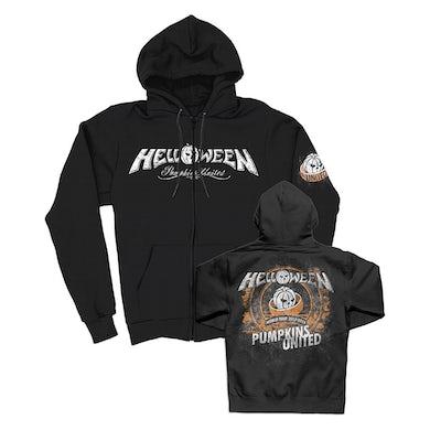 Helloween Pumpkins United Zip Up Hoodie (Black)