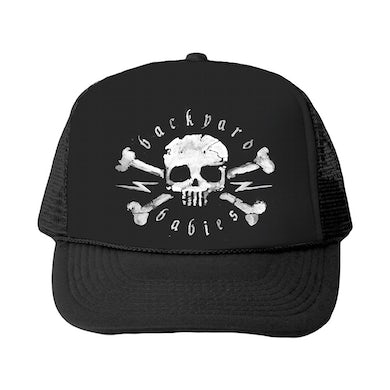 Skull Trucker Hat (Black)