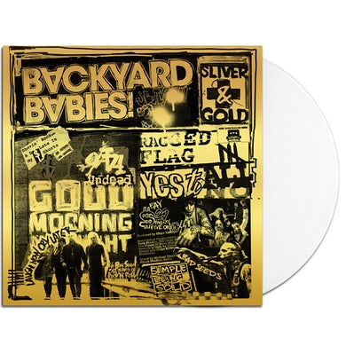 Backyard Babies Sliver & Gold LP (White) (Vinyl)