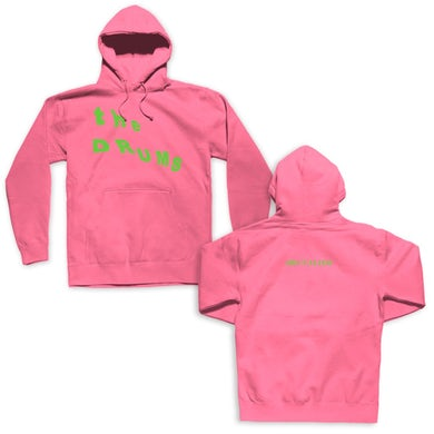 The Drums Slant Neon Green Logo Pullover (Pink)