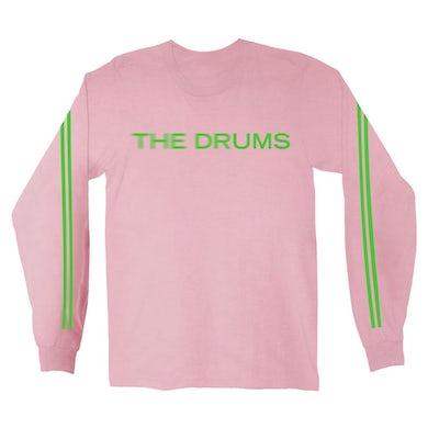 The Drums Blur Logo Long Sleeve (Light Pink)