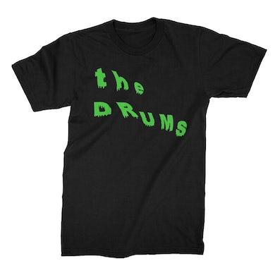 The Drums Slant Neon Green Drip Tee (Black)