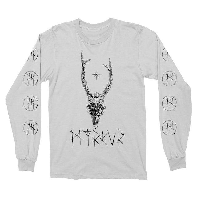 Myrkur Deer Skull Long Sleeve (White)