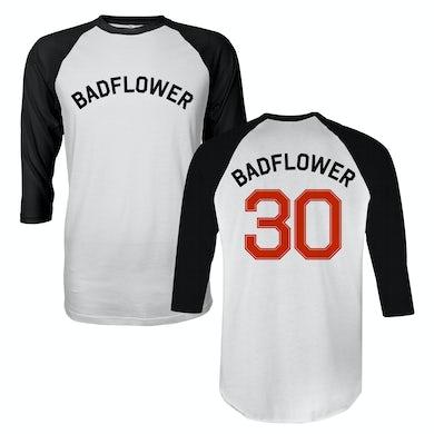 Badflower 30 Raglan (White/Black)