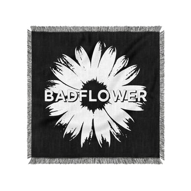 Badflower Flower Logo Woven Blanket