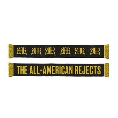 The All-American Rejects Logo Scarf (Black/Yellow)