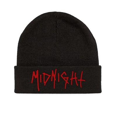 Midnight Red Logo Beanie (Black)
