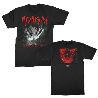 Midnight Rebirth By Blasphemy Album T-Shirt (Black)