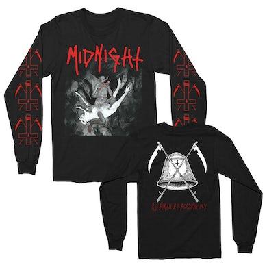 Midnight Rebirth By Blasphemy Album Long Sleeve (Black)