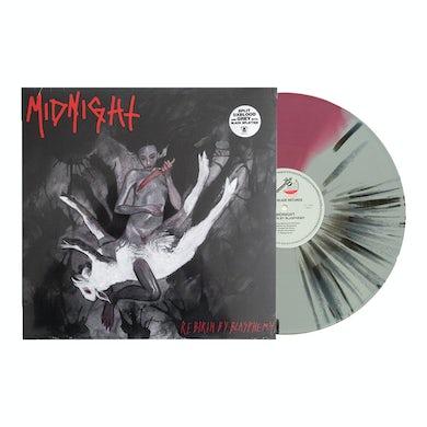 Midnight Rebirth By Blasphemy LP (Grey/Oxblood/Black) (Vinyl)