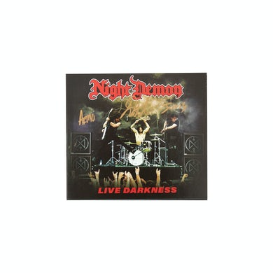 NIGHT DEMON Live Darkness Autographed 2xCD