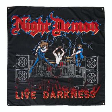 NIGHT DEMON Live Darkness Flag (4'x4')