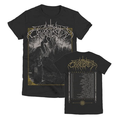 Wolves In The Throne Room Woodcut Women's Tour T-Shirt (Black)