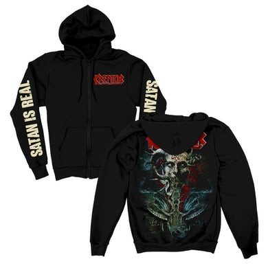 Kreator Satan Is Real Zip Up Sweatshirt (Black)