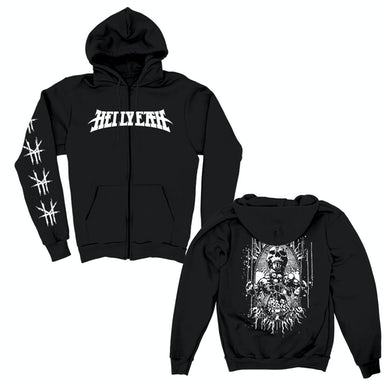 Hellyeah Skull Plague Zip Hoodie (Black)