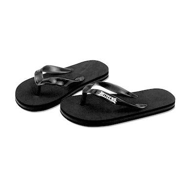 Hellyeah Logo Flip Flops (Black)