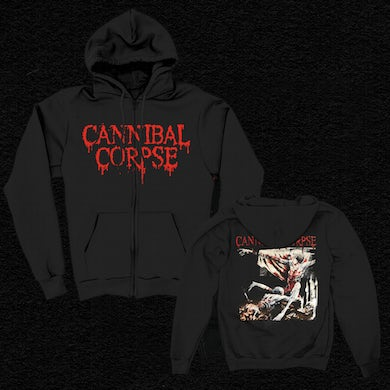 Cannibal Corpse Tomb Of The Mutilated Zip Up Hoodie (Black)