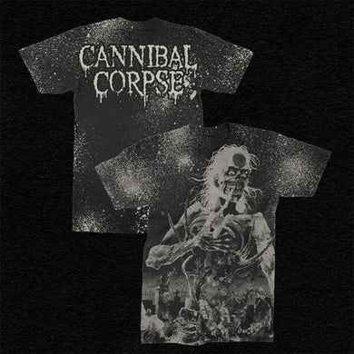 Cannibal Corpse Eaten Back To Life All Over Print T-Shirt (White)