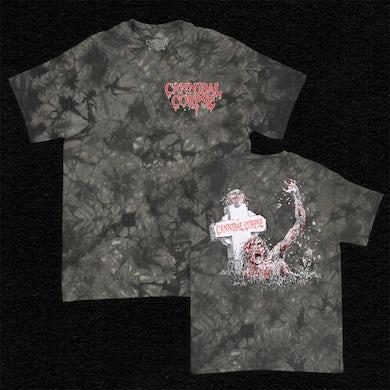 Cannibal Corpse Zombie Grave Dye T-Shirt (Slate Wash)