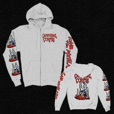 Cannibal Corpse Ritual Candles Zip Up Hoodie (Ash Grey)