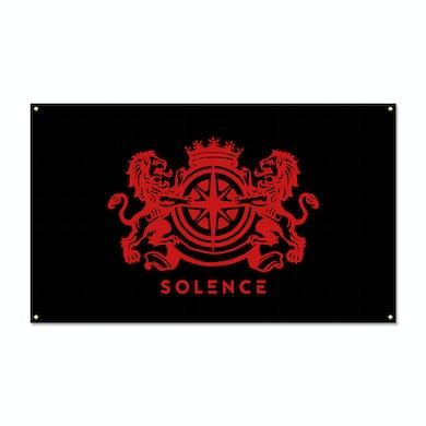 Solence  Deafening Emblem Flag (Black)
