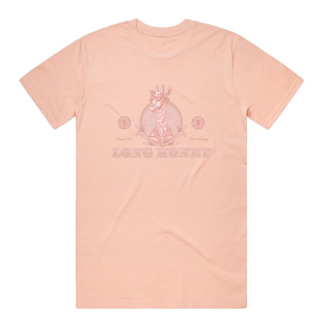 Money Man Long Money- Dusted Pink Tee