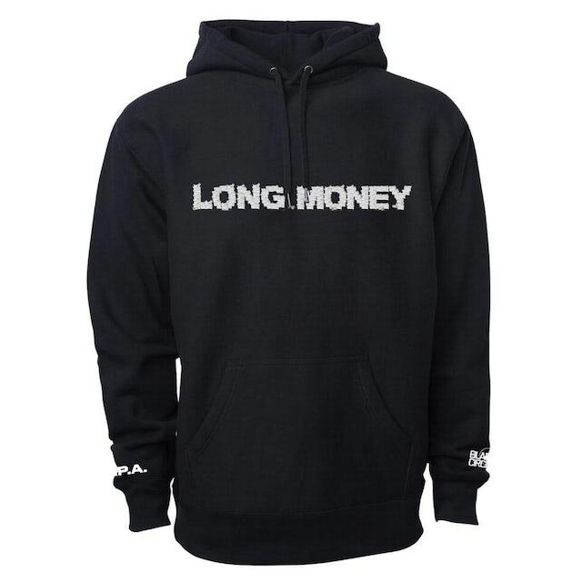 Money Man Long Money Logo Black Hoodie