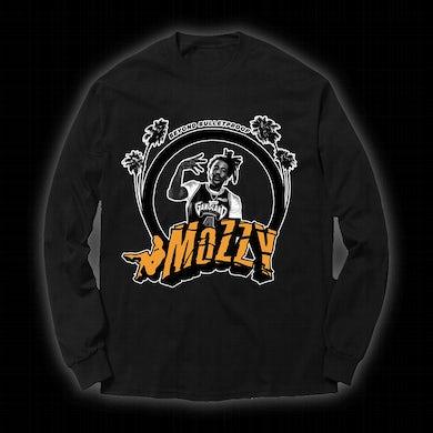 MOZZY - Orange Logo Black Long-sleeve
