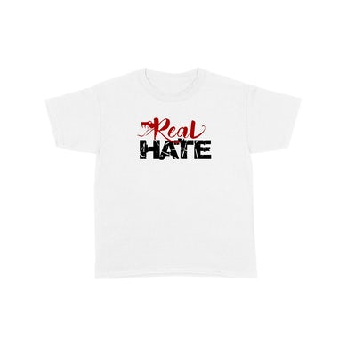 Real Hate - Snake White Tee + DL