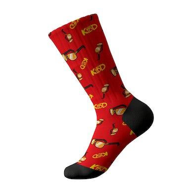 Cash Kidd - Red Sunglasses Socks