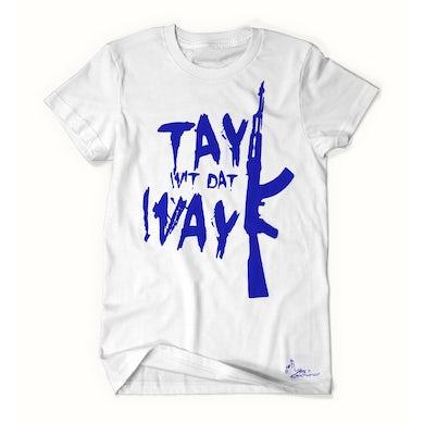 Tay Way - White / Blue T-Shirt