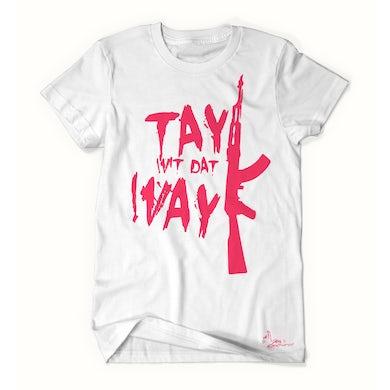 Tay Way - White / Pink T-Shirt